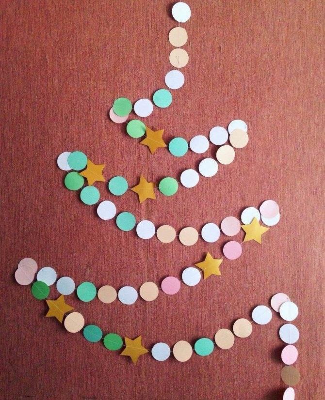 Новогодняя гирлянда своими руками из бумаги (схемы и шаблоны с фото)