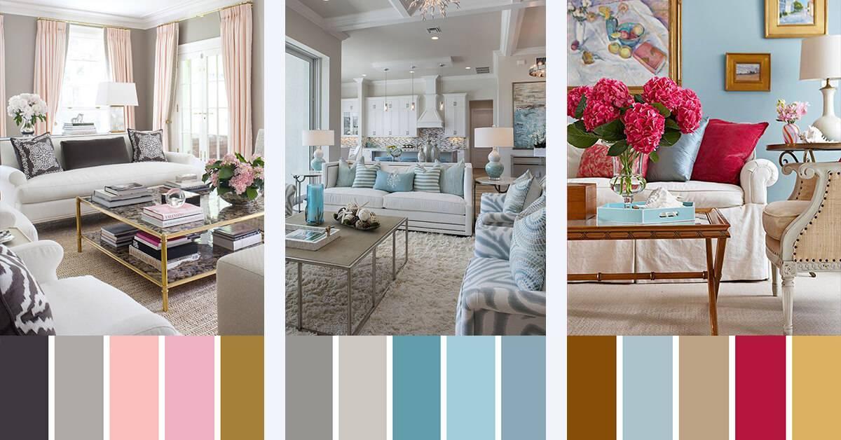 Сочетания цветов в интерьере, таблица    дизайн vid