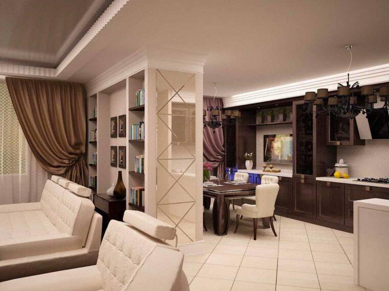 Варианты дизайна интерьера кухни-гостиной