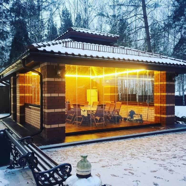 Дизайн двора частного дома с беседкой: 100 фото и особенности расположения