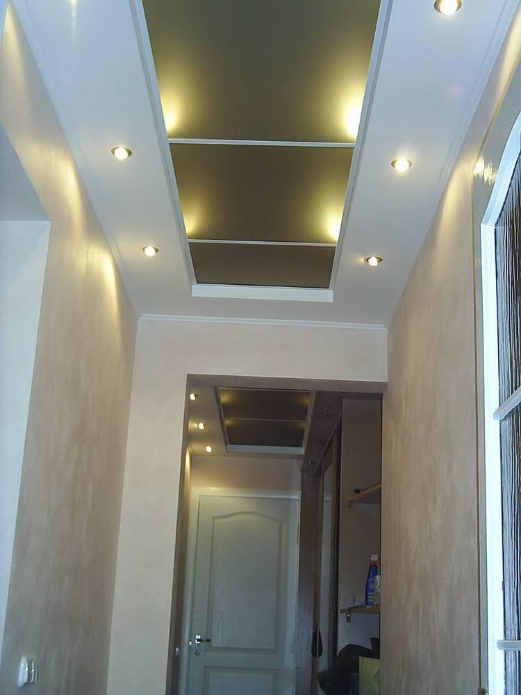 Потолок из гипсокартона в прихожей с подсветкой: фото, дизайн
