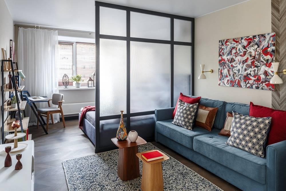 Разделение комнаты на две зоны: фото, идеи, советы