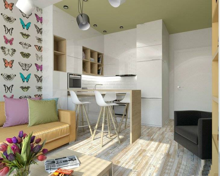 Дизайн однокомнатной квартиры (40 кв. м): фото идей