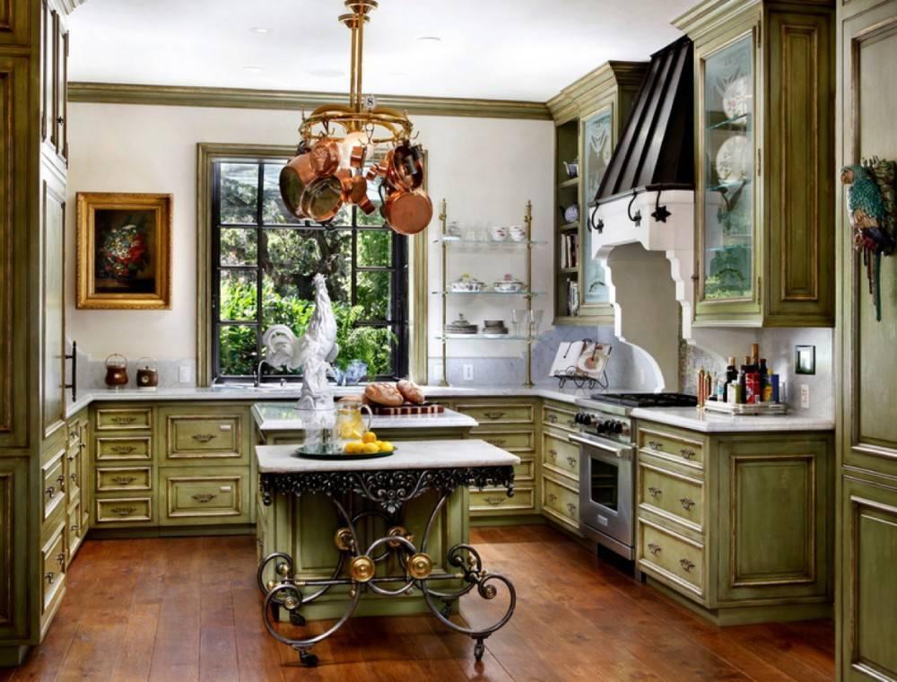 Уютная кухня в стиле кантри:  примеры аутентичного дизайна