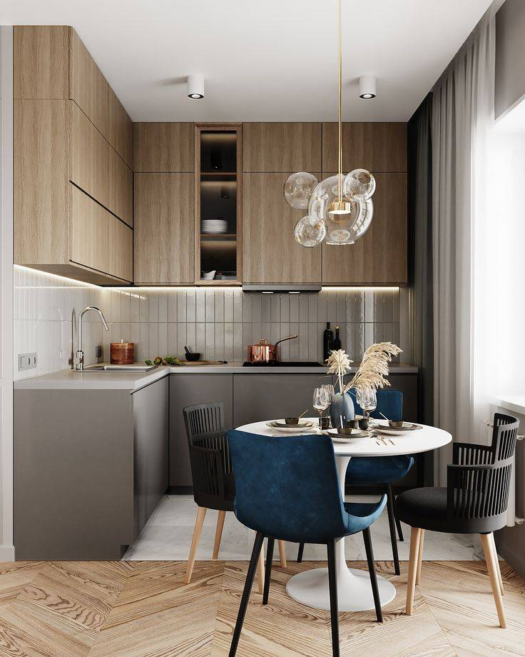 Дизайн маленькой кухни 2021   топ-10 модных трендов