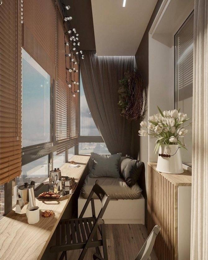 Дизайн маленького балкона или небольшой лоджии