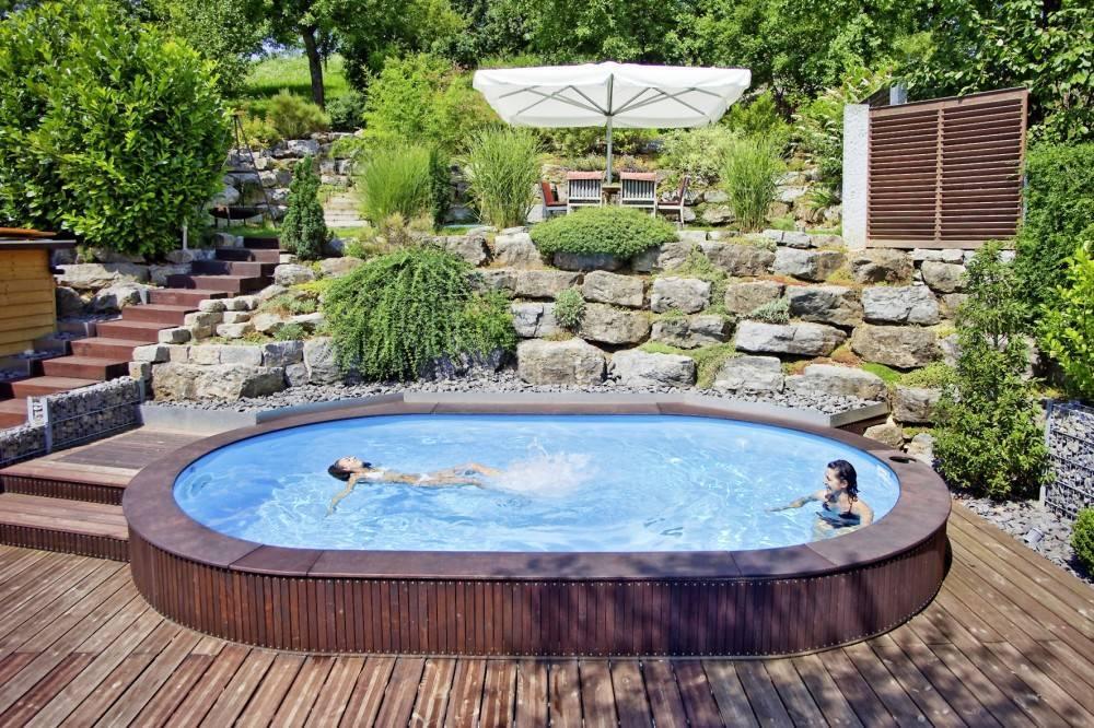 Дизайн бассейна (64 фото): интерьер вокруг него в частном доме и оформление на даче во дворе. спа-бассейн на дачном участке и внутри дома