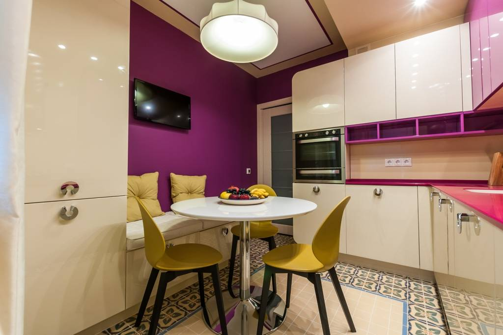 Кухня гостиная 20 кв м с диваном - 100 фото