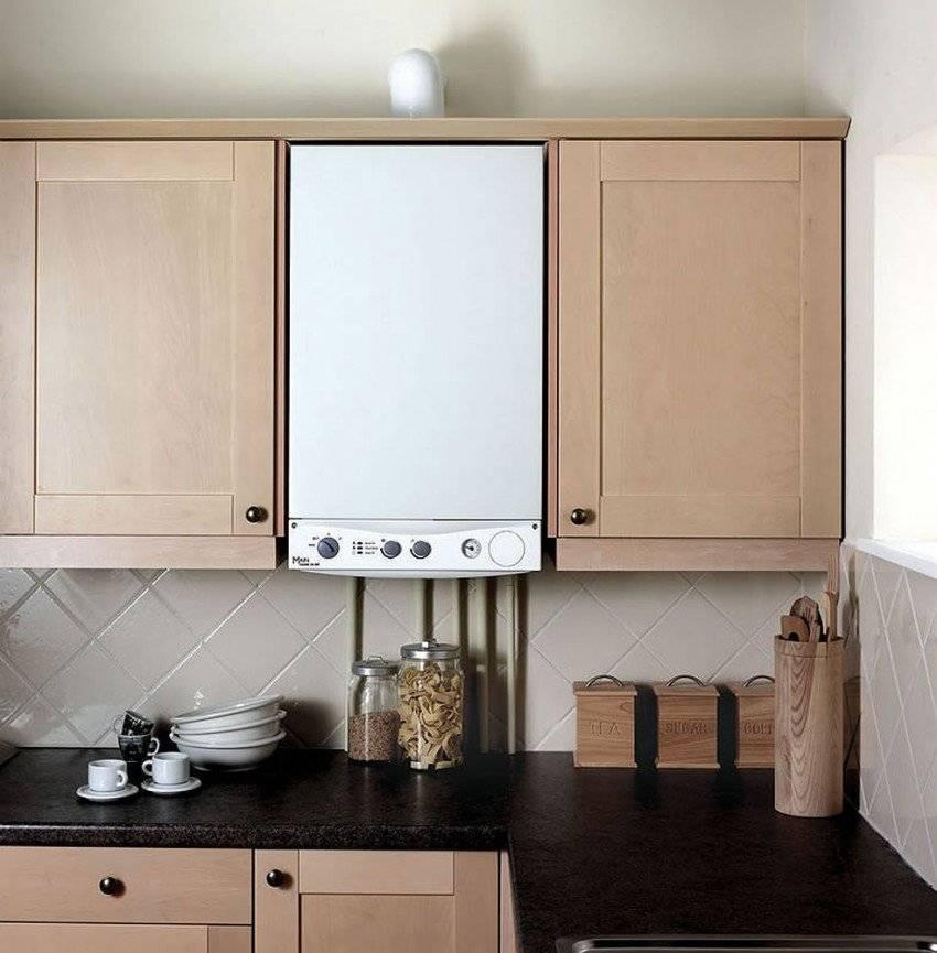 Как спрятать газовый котел на кухне