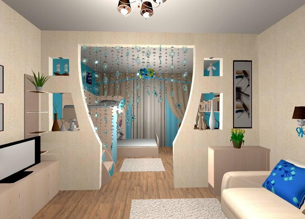 Перегородка для зонирования комнаты из гипсокартона - монтаж своими руками, фото, видео