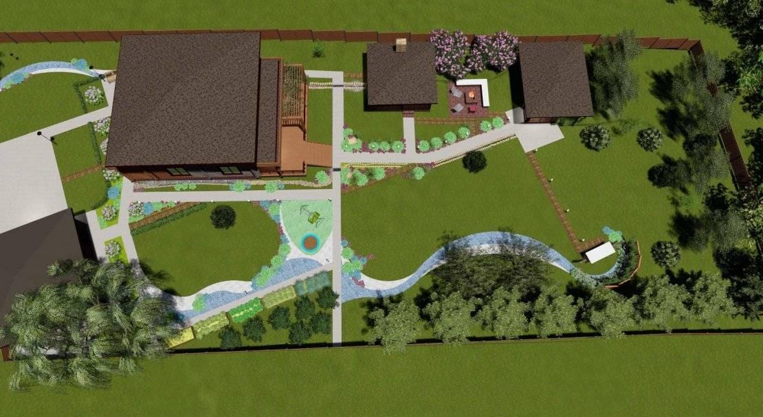 Ландшафтный дизайн участка площадью 15 соток: тонкости оформления территории и фото готовых решений