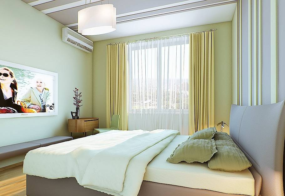 Спальня 9 кв. м. - 100 фото лучших идей дизайна маленькой спальни