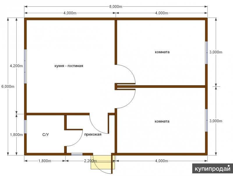 Проекты дома размером 6 на 8 с мансардой (61 фото): план каркасного дачного домика площадью 6х8, дача из пеноблоков и бруса