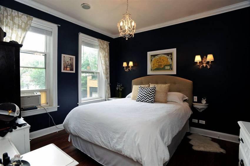 Черная спальня - 140 фото лучших идей и новинок дизайна темной спальни