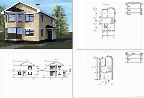 Как составить чертежи домов: готовые проекты с размерами 50 эскизов