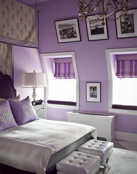 Как обустроить спальню в сиреневых тонах: оригинальные идеи дизайна