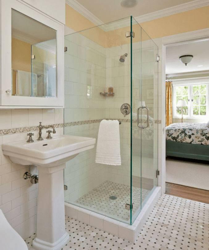 Ванная комната с душевой кабиной – дизайн и фото интерьера ванных с душем