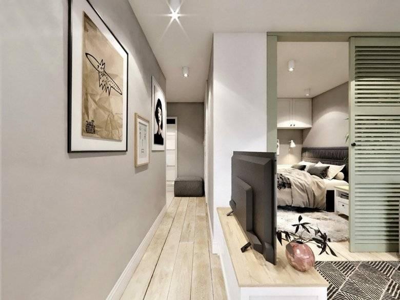 Дизайн однокомнатной квартиры 40 кв. м - интересные варианты интерьера (81 фото): проекты ремонта современных 1-комнатных квартир
