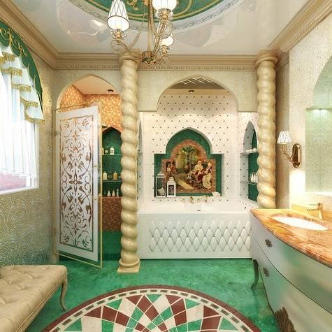 Ванная в восточном стиле (58 фото): варианты дизайна ванной комнаты. правила оформления интерьера