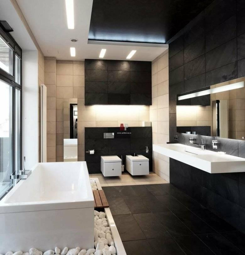 Дизайн ванной в стиле хай-тек: фото, идеи и интерьер   wergin.ru