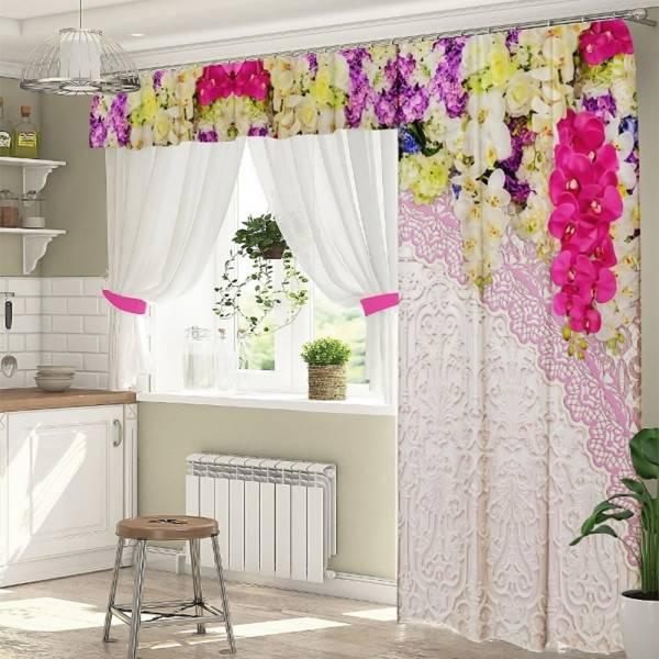 Самые модные шторы на кухню с балконной дверью