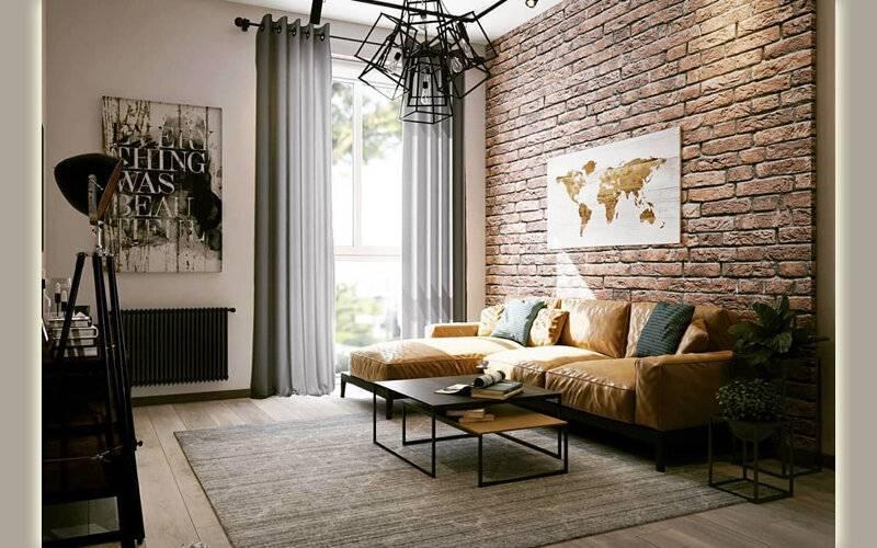 Акцентная стена в гостиной: необходимость, правила, возможности, инструкция по созданию, расположение