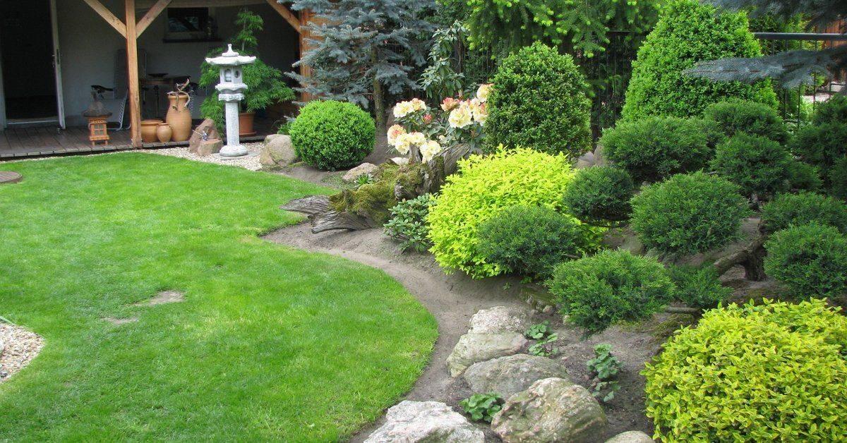 Красивый ландшафтный дизайн сада для частного дома