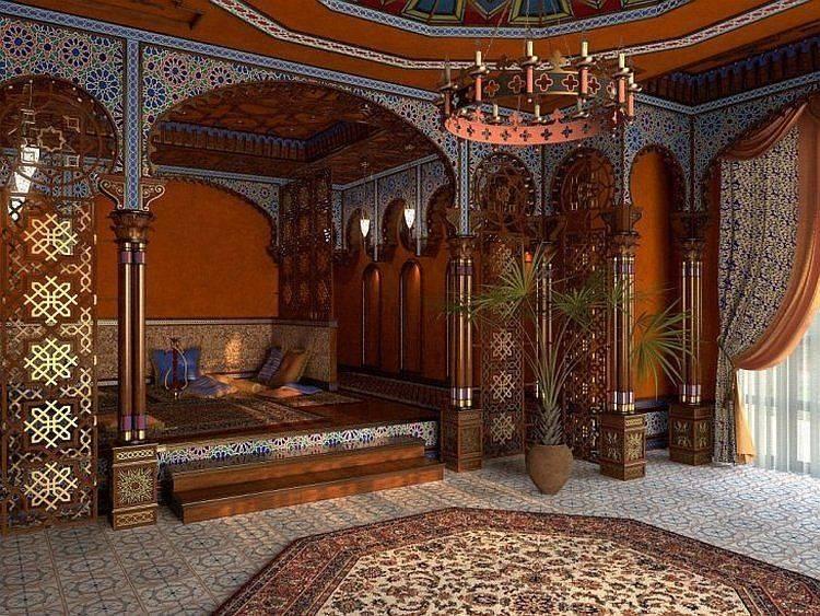 Сказочно красивая спальня в арабском стиле