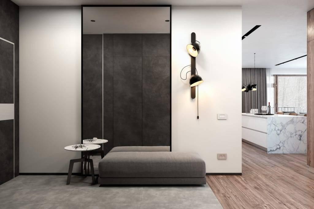 Прихожая в стиле минимализм (57 фото): дизайн интерьера коридора в квартире. выбор вешалки и других атрибутов для маленькой и большой прихожих