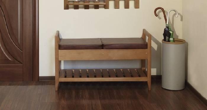 Интересные варианты выбора скамеек для прихожей комнаты
