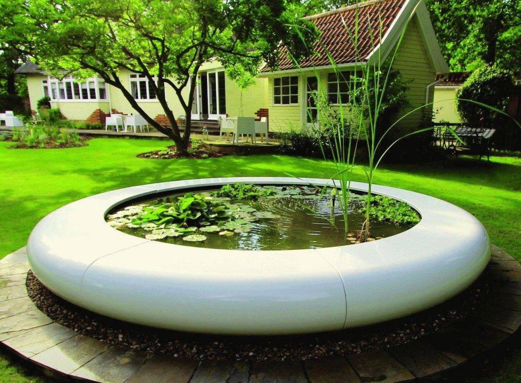 Садовый фонтан - прекрасное украшение для дачного участка (разновидности фонтанов, насосов и насадок)