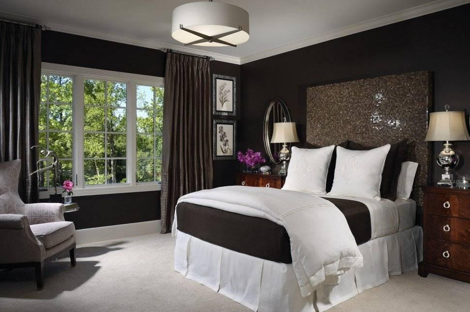 Красиво и стильно: оформление спальни в коричнево-бежевых тонах (+91 фото)