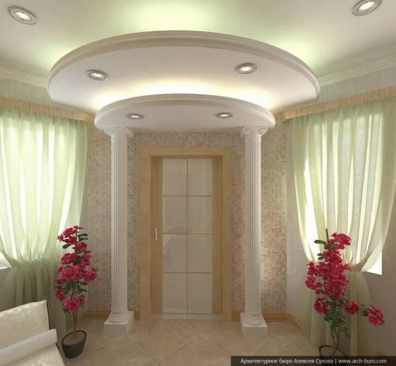 Потолок в прихожей - 60 фото самых красивых идей от дизайнеров!