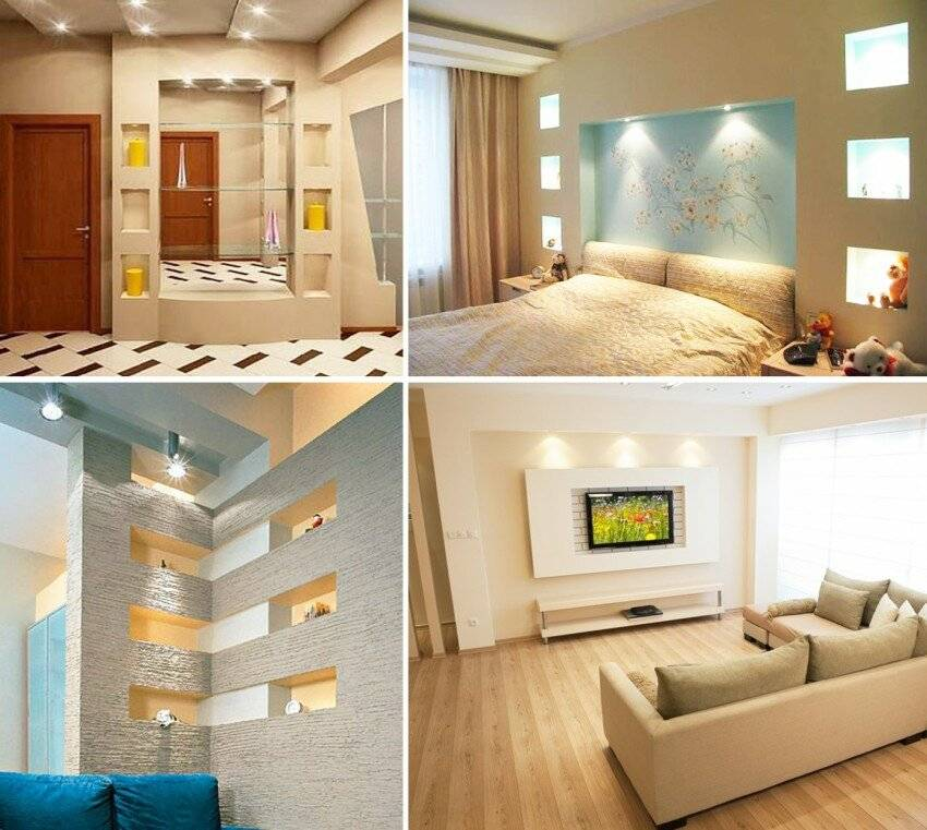 Ниша в спальне (39 фото): оформление ниши из гипсокартона для кровати в однокомнатной квартире, тонкости дизайна и монтаж ниши в виде арки для спального места