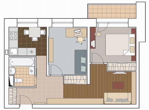Дизайн 2-комнатной квартиры площадью 60 кв. м: идеи оформления