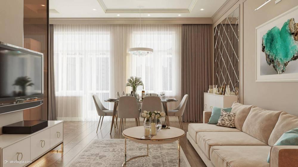 Дизайн двухкомнатной квартиры площадью 60 кв. м: идеи оформления