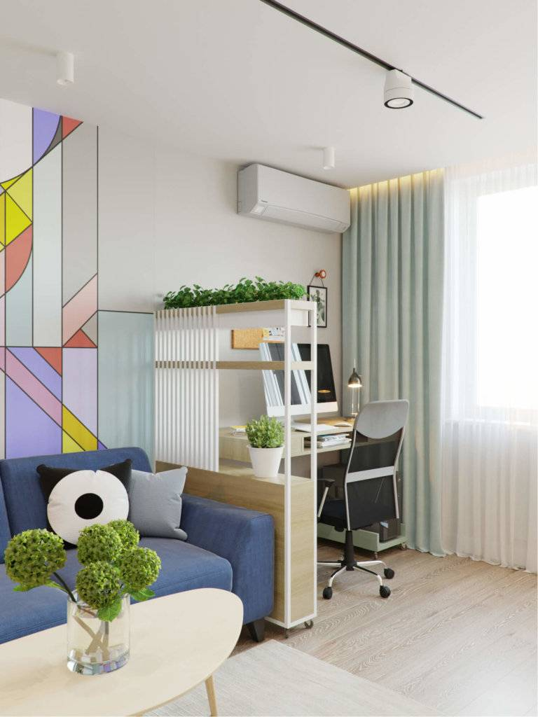 Используем пространство с умом: как совместить гостиную и спальню в одной комнате