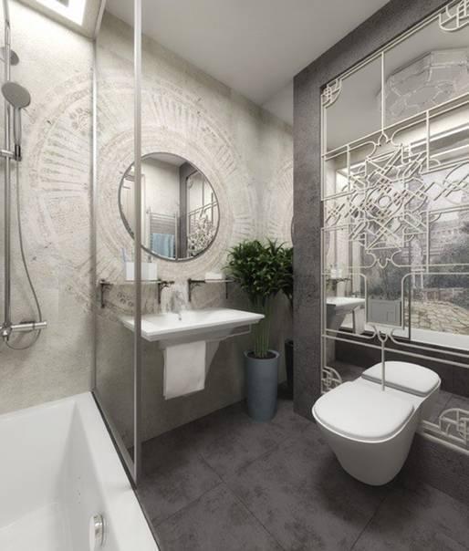 Фото дизайна ванной совмещенной с туалетом