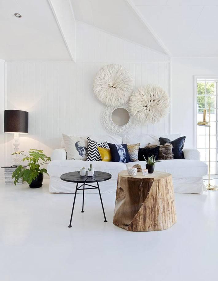 Белый интерьер: освещение, преимущества, фото
