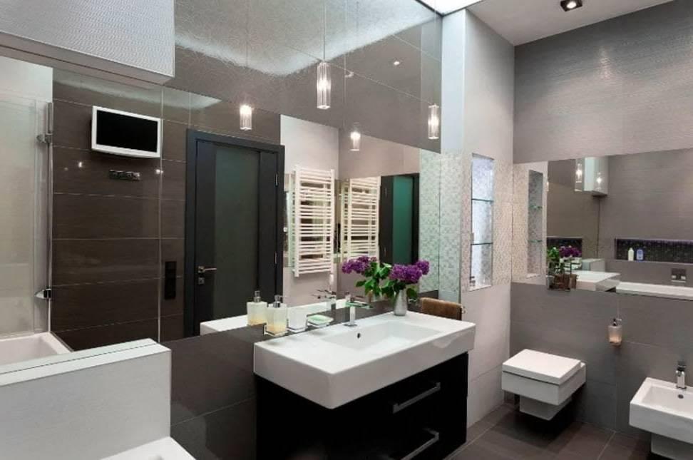 Ванная в стиле хай-тек и ее обустройство