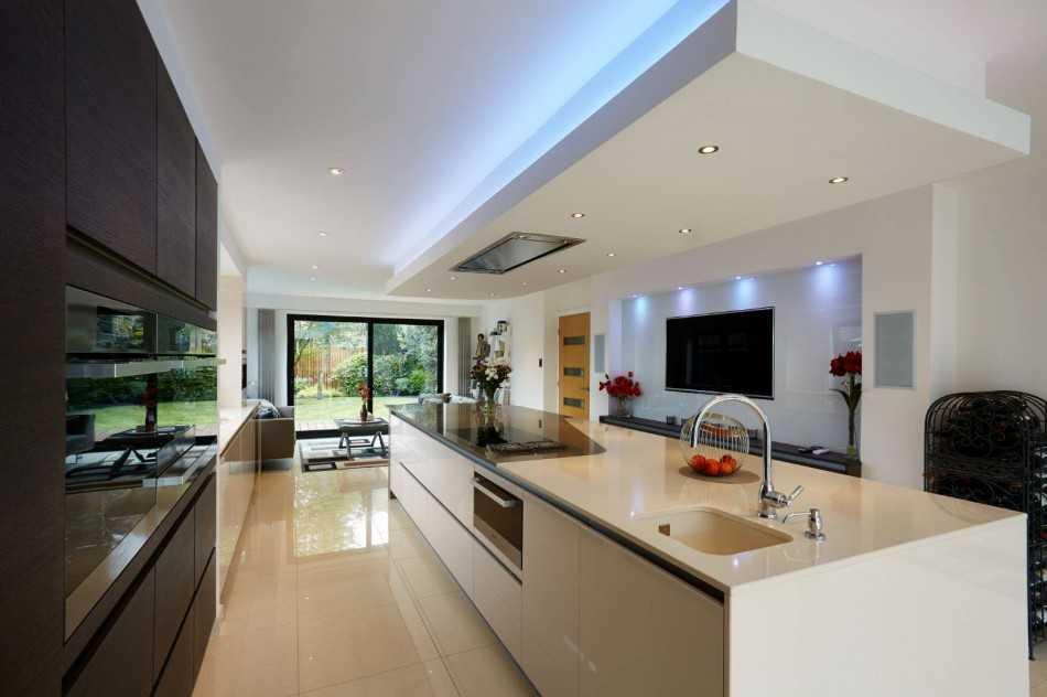 Телевизор на кухне: варианты размещения, размер и высота (30 фото в интерьере)