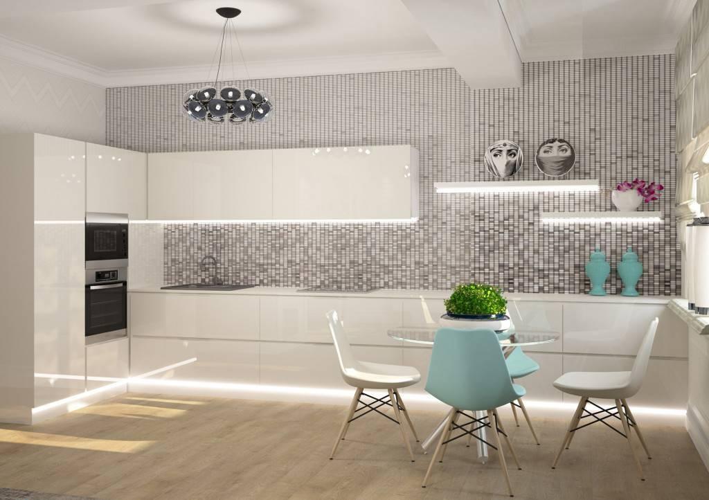 Белая плитка на фартук на кухню (23 фото): подбираем светлую плитку под кирпич в интерьер с темной столешницей