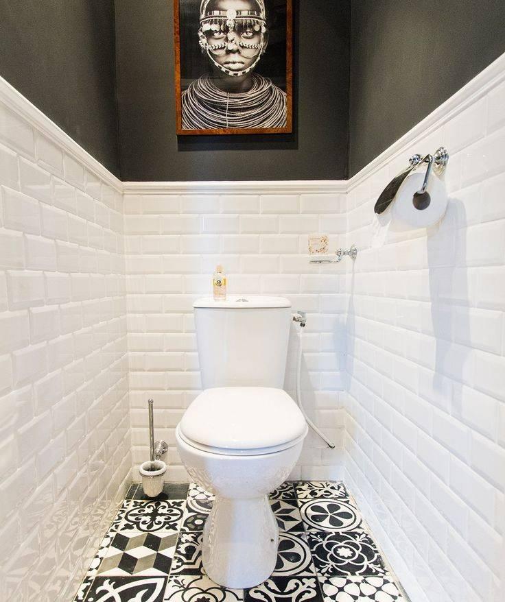 Варианты дизайна и способы укладки плитки в туалете