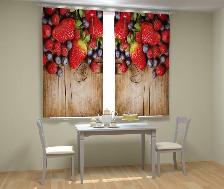 Шторы для кухни: разновидности, стили, фото примеры