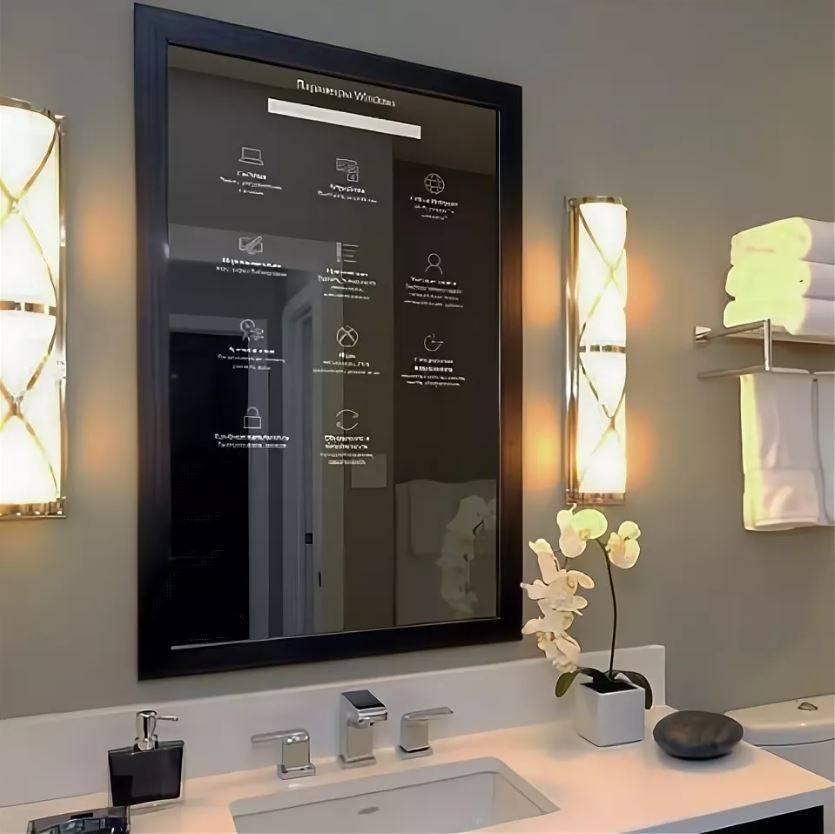 Зеркало в ванную  (79 фото): как повесить большое изделие в ванную комнату, круглая конструкция на присоске, овальное сенсорное зеркало