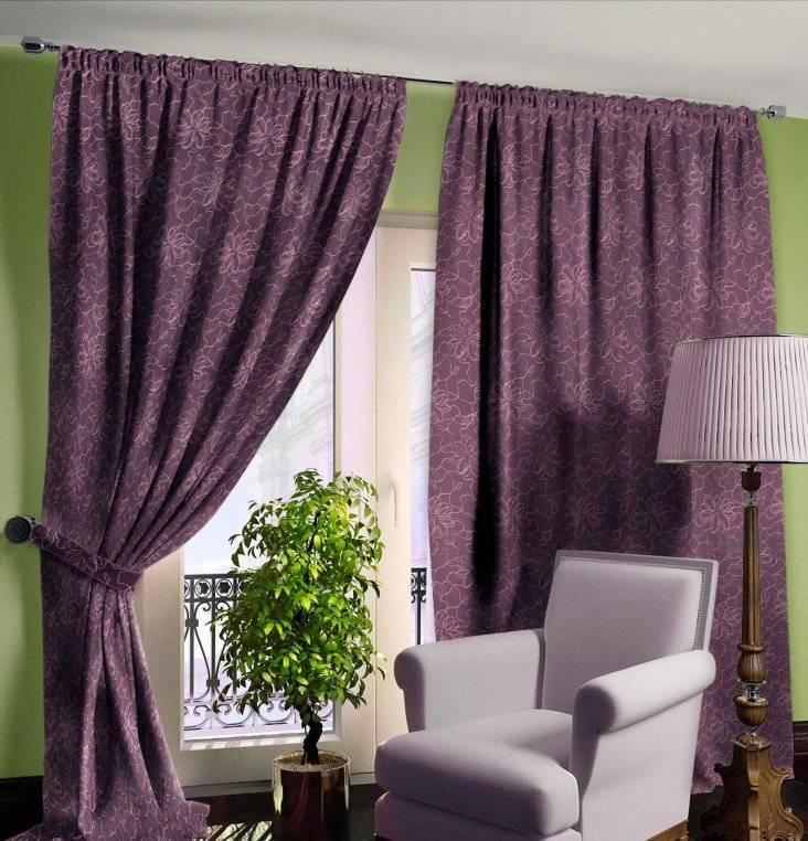 Дизайн штор в фиолетовом цвете - особенности цвета, сочетания, полезные советы