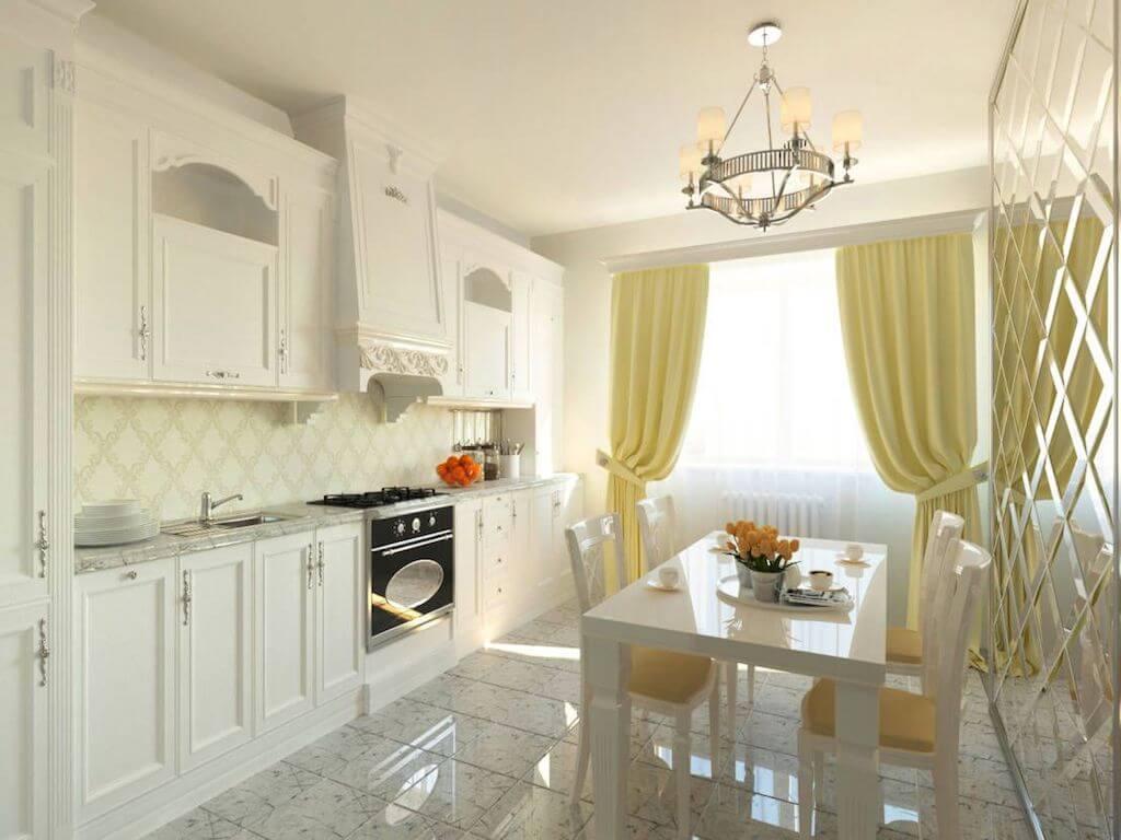 Интерьер кухни белого цвета: современные дизайнерские решения для маленькой кухни