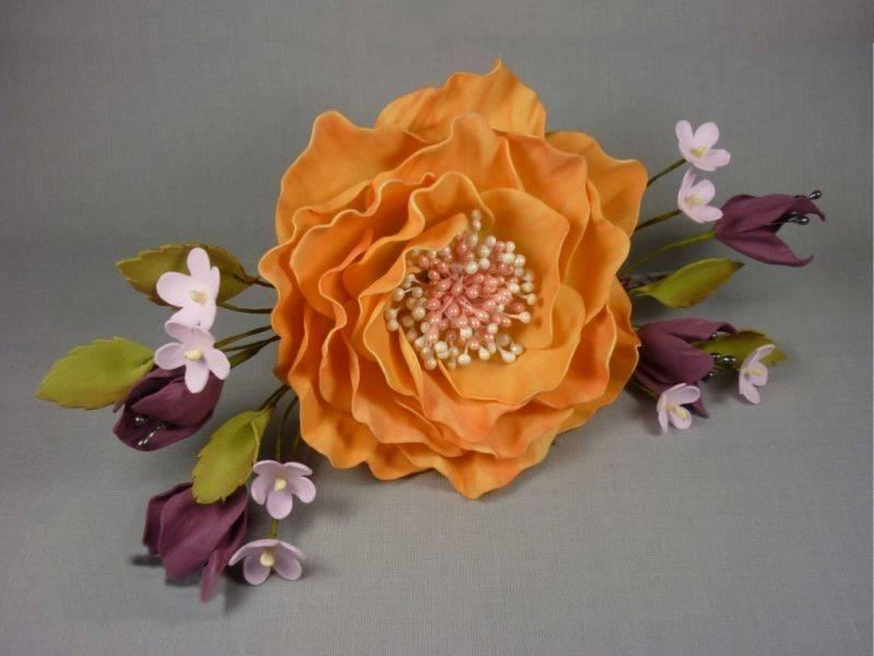 Цветы из фоамирана для начинающих (84 фото): пошаговые схемы и шаблоны для изготовления своими руками, простые мастер-классы