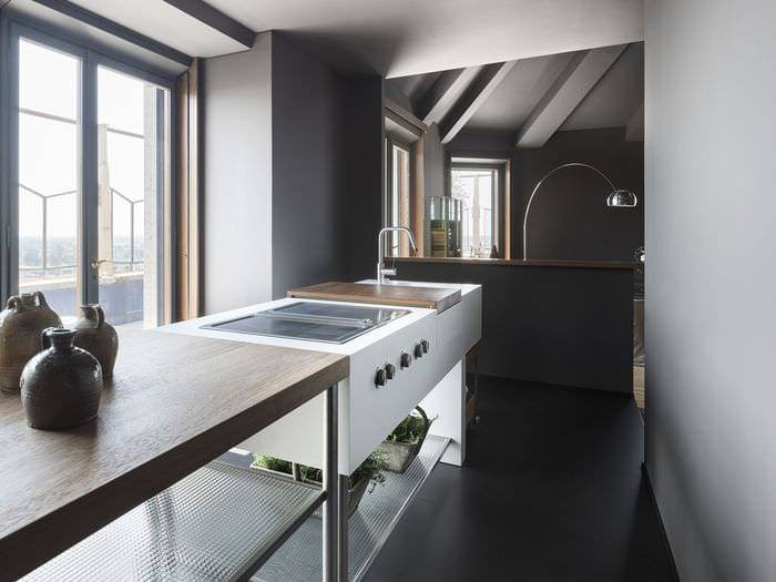 Кухня и гарнитур в стиле лофт: промышленная роскошь