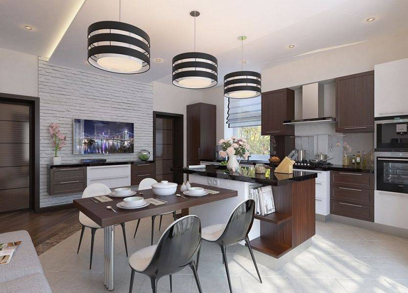 100 лучших идей дизайна: интерьер кухни-гостиной 2019 фото